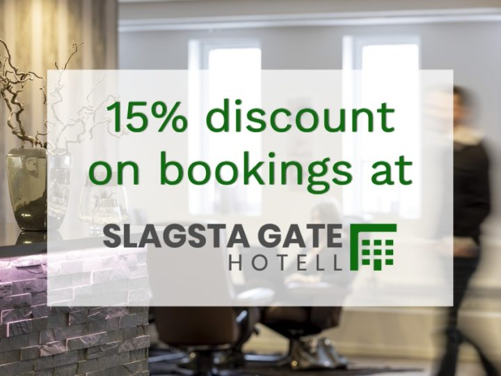 15% discount on Slagsta Gate Hotell bookings