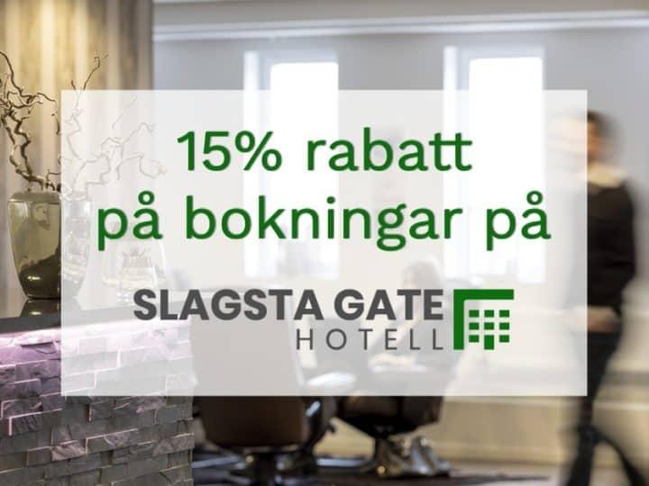 15% rabatt på Slagsta Gate Hotell