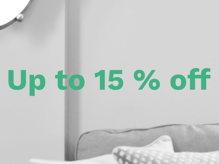Up to 15 % off on selected units in Stockholm and Uppsala!